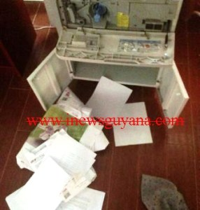 A section of the ransacked office. [iNews' Photo]