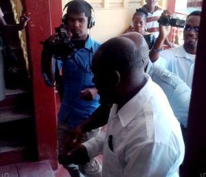 Royston King makes his appearance at the Georgetown Magistrate's Court. [iNews' Photo]