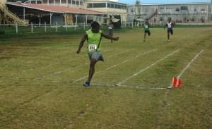 Garraway wins 200 metres heat at the championship.