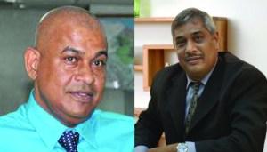 Publisher of Kaieteur News, Glenn Lall and Commissioner General of GRA, Khurshid Sattaur.