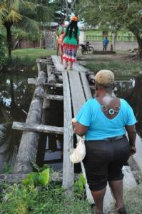 The state of one of the bridges in Laing Avenue. [APNU Photo]