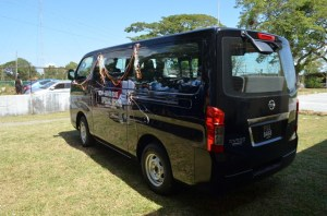 The new minibus that was gifted to the David Rose School by the Education Ministry