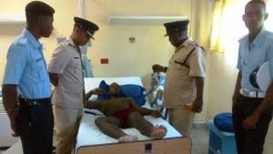 Commander visits cop