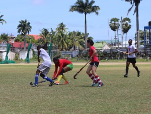 The women went through some drills during one practice session.