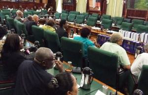 Opposition members in Parliament today, Monday November 10.
