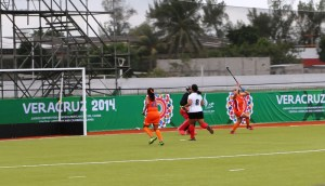 Agustina Birocho scores for the Dominican Republic