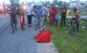 The scene of the accident. [Guyana Times Photo]
