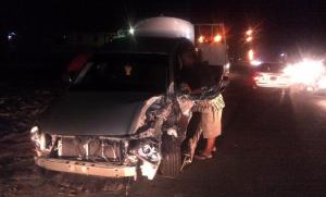 Hamilton's vehicle following the accident. [iNews' Photo]