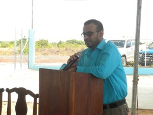 Minister of Natural Resources and the Environment, Robert Persaud.