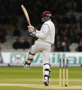 Marlon Samuels plays a convincing stroke during his fast paced century.