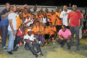 Slingerz FC celebrate their inaugural win