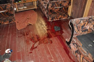 Inside the bloodied house. [iNews' Photo]