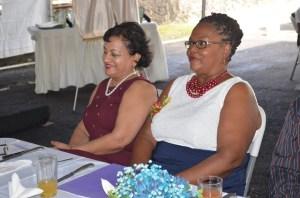 The two women who were honoured,  Paula Mc Adam and Sandra Persaud