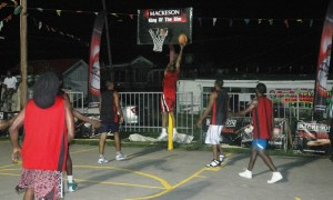 Action during the Sunday night's game.
