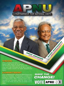 APNU's poster during the last elections.