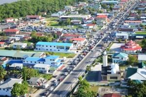 Traffic on the East Bank Demerara road. [GINA Photo]