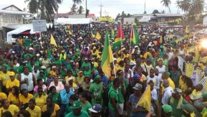 A section of the crowd at Whim, Corentyne Berbice. [iNews' Photo]