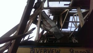 Part of the collapsed roof. [iNews' Photo]