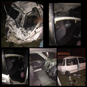 Scenes from the accident at Berbice