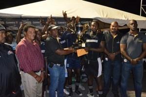 BV A receive their winning trophy