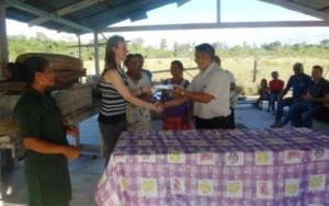 High Commissioner Giles hands over project contribution agreement to Wowetta Village Council