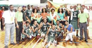 The Guyana squad after defeating CBC rivals Bermuda.