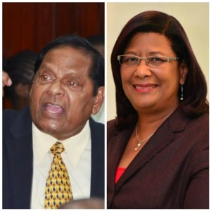 Prime Ministerial Candidates, Moses Nagamootoo and Elisabeth Harper