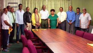 APNU+AFC Officials meet with Leaders of the Muslim Community. [Kojo McPherson Photo]