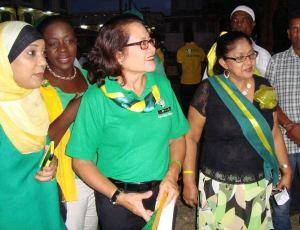 Sandra Granger (center) and Sita Nagamootoo (right)