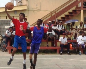 Shamar France goes for a lay-up. [iNews' Photo]