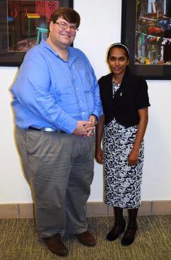 US Chargé d'Affaires Bryan Hunt and Miriam Jainarine