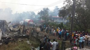 The scene of the fire. [iNews' Photo]