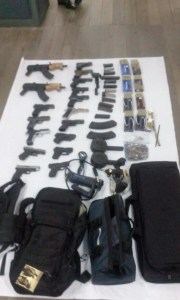 Some of the illegal items discovered by the ranks on Friday afternoon.