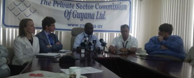 Private Sector Officials and the ABC Envoys at the press briefing