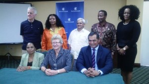 The Members of the Commonwealth Observer Team at Cara Lodge. [iNews' Photo]