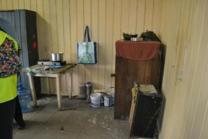 The Kitchen area of the  male quarters of the Bartica Police Station