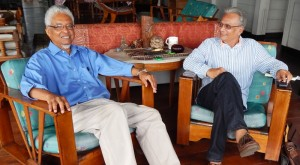 Professor E. Nigel Harris and Dr. Rupert Roopnaraine -Minister of Education