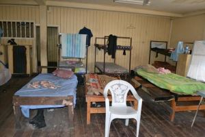 Inside the Barrack room at the Bartica Police Station