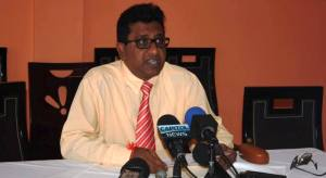 Former Attorney General, Anil Nandlall during the press conference on Thursday, July 23.