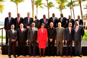 President Granger (third from right) and other CARICOM Heads of government