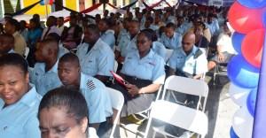 Police ranks during the sermon