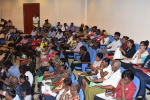 Participants at the National Conference on Gender and Development Policy at the Arthur Chung Convention Centre. [Ministry of the Presidency Photo]