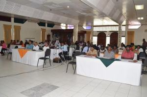 Participants at the small business development workshop at Ocean View Convention Center