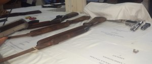 Some of the weapons handed over. [iNews' Photo]