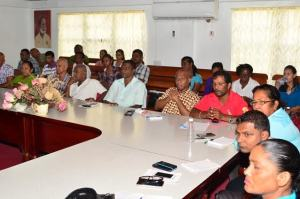 A section of the participants at the consultation session at the Regional Democratic Council's Board Room.