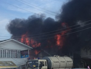 The building in flames [iNews Photo]