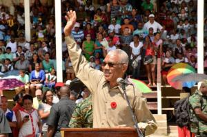 Commander in Chief, Brigadier David Granger
