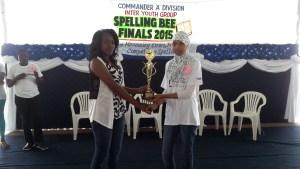 Tasheerah Cave receives her trophy