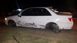 One of the cars involved in the accident