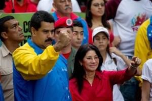 President Nicolas Maduro and his wife.